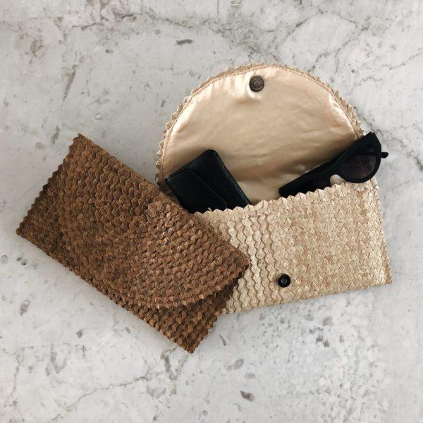 Clutch Balangan, natural en bruin