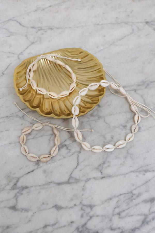 shell schelpenketting, armband, enkelbandje amed